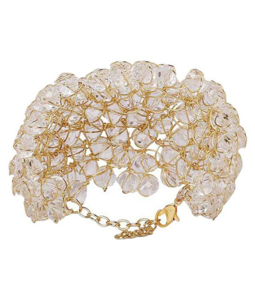 Jewels Gold White Alloy Bracelet