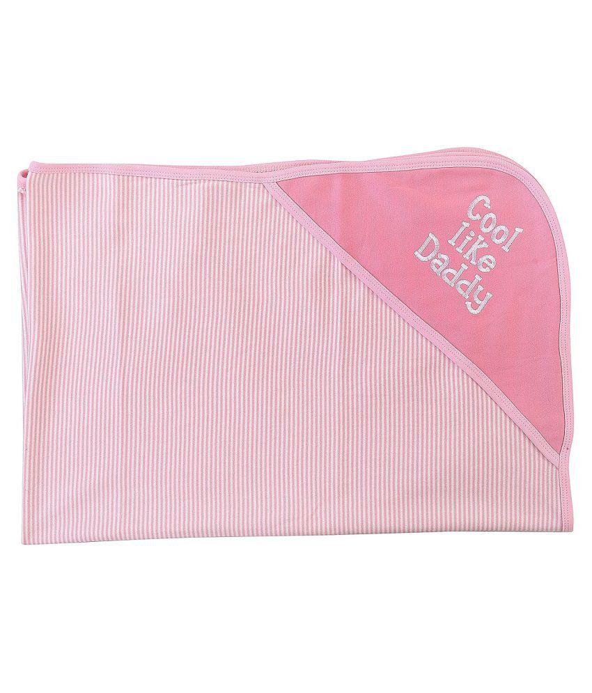 Kidzvilla Pink Baby Cotton Hooded Wrapper