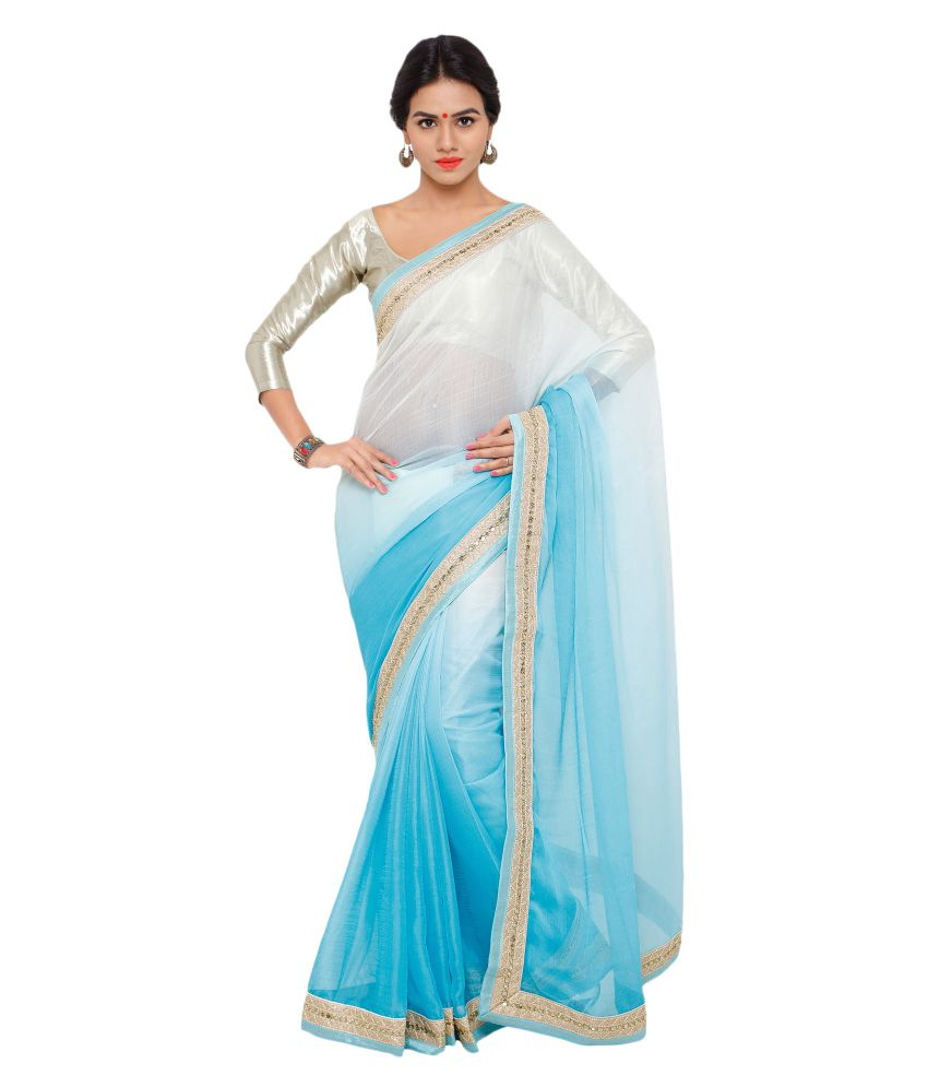 Nanda Silk Mills Multicoloured Chiffon Saree