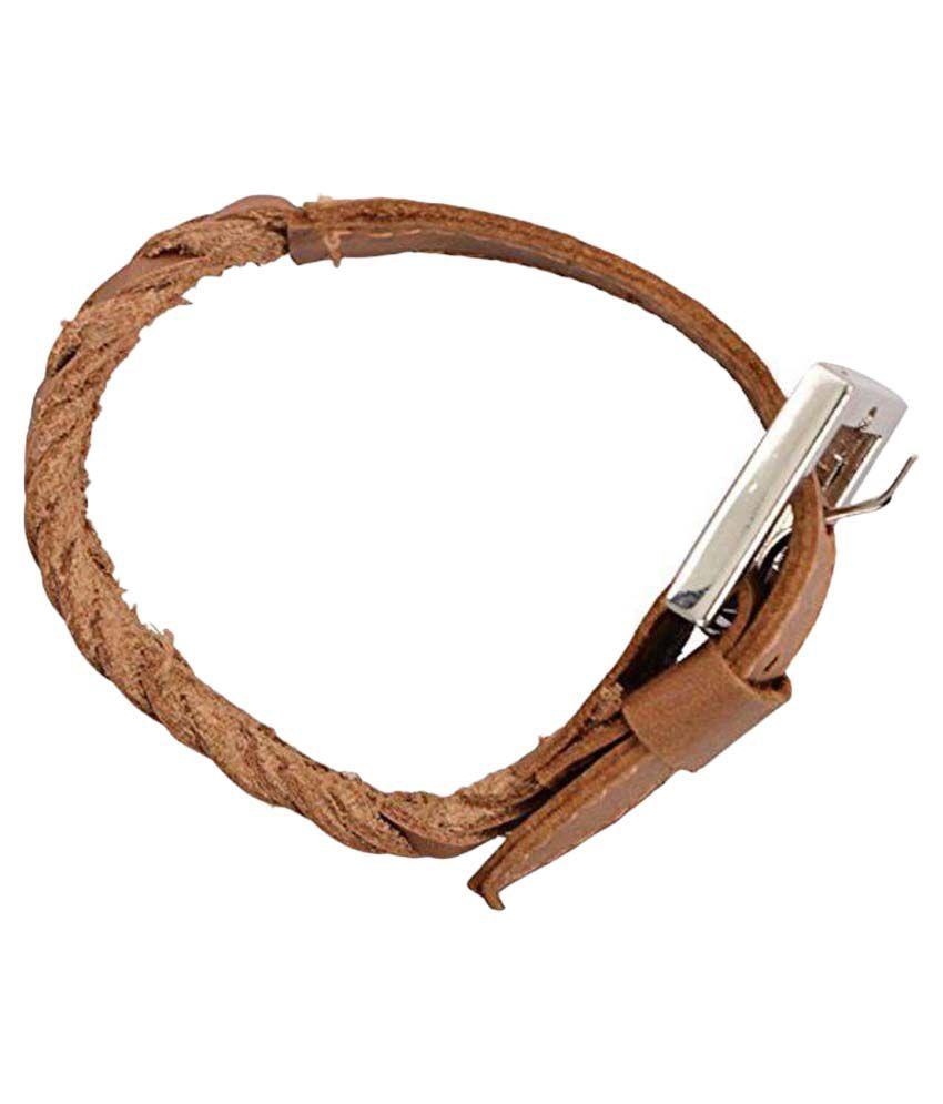 Sakhi Styles Tan Leather Bracelet