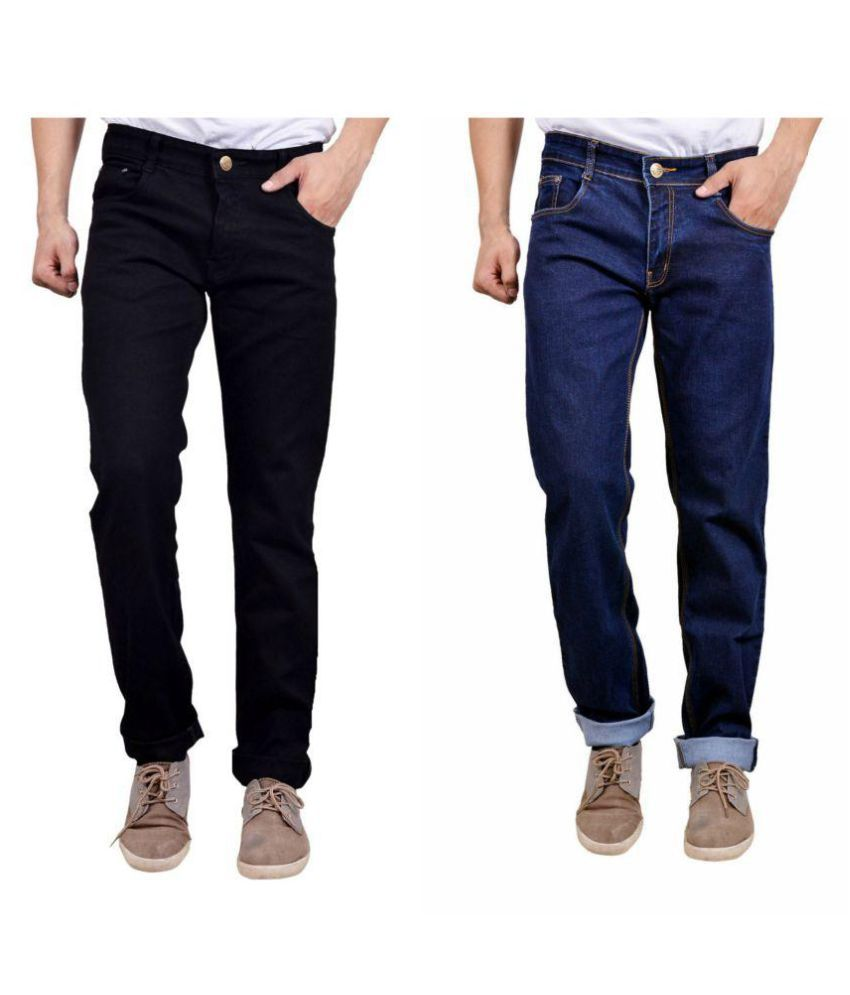 Finger's Black Straight Jeans