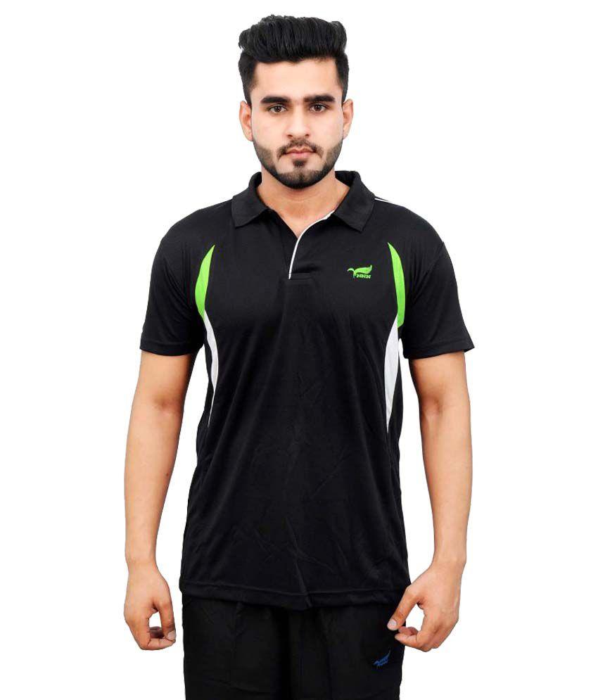 NNN Black Polyester Polo T-Shirt Single Pack