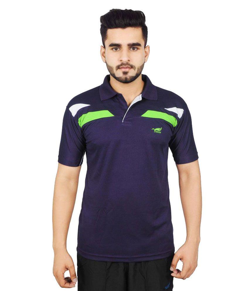 NNN Blue Polyester Polo T-Shirt Single Pack