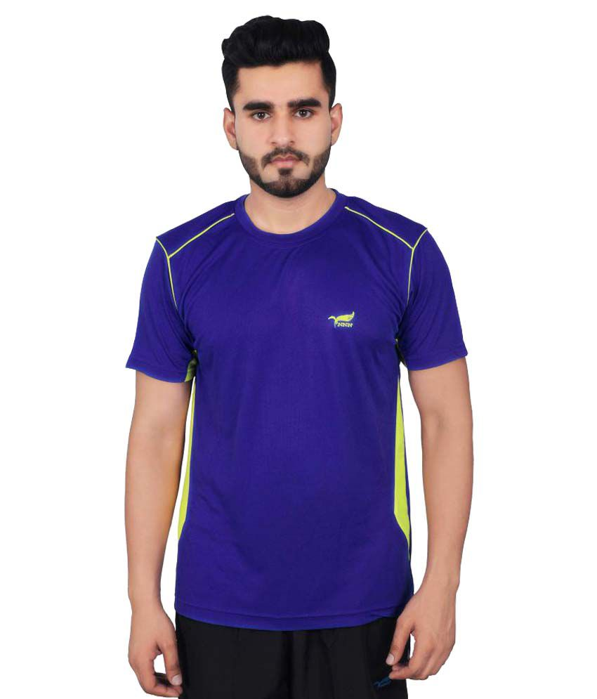 NNN Blue Polyester T-Shirt Single Pack