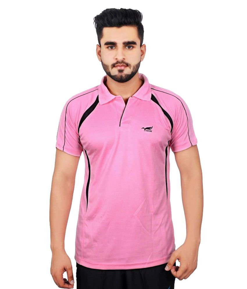 NNN Pink Polyester Polo T-Shirt Single Pack