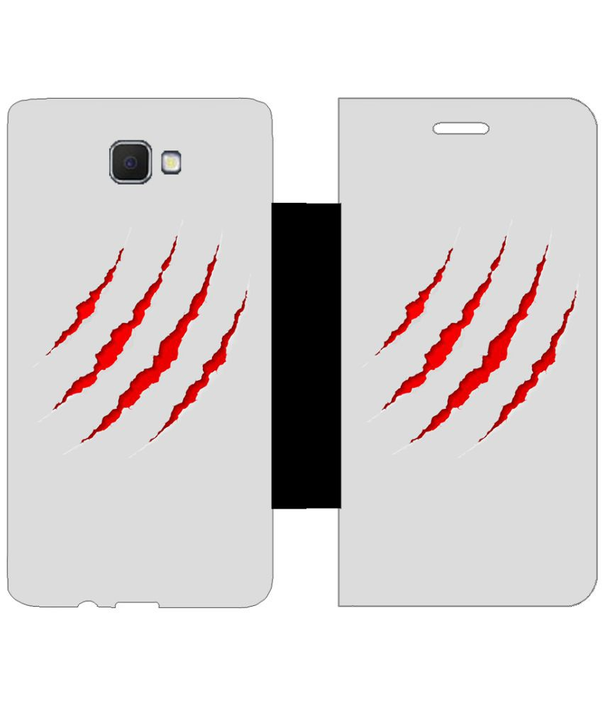 Samsung Galaxy J5 Prime Flip Cover by Skintice - Red