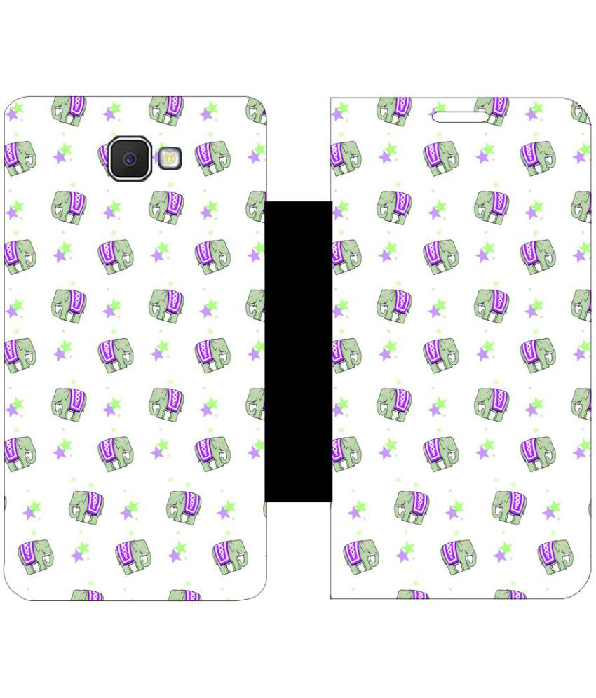 Samsung Galaxy J7 Prime Flip Cover by Skintice - White