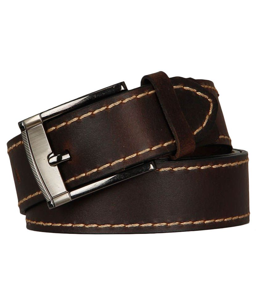 YL Brown Leather Casual Belts