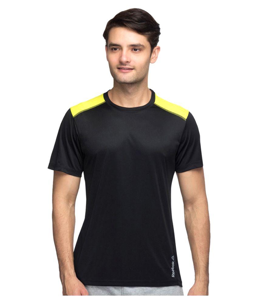 Reebok Black Polyester T Shirt