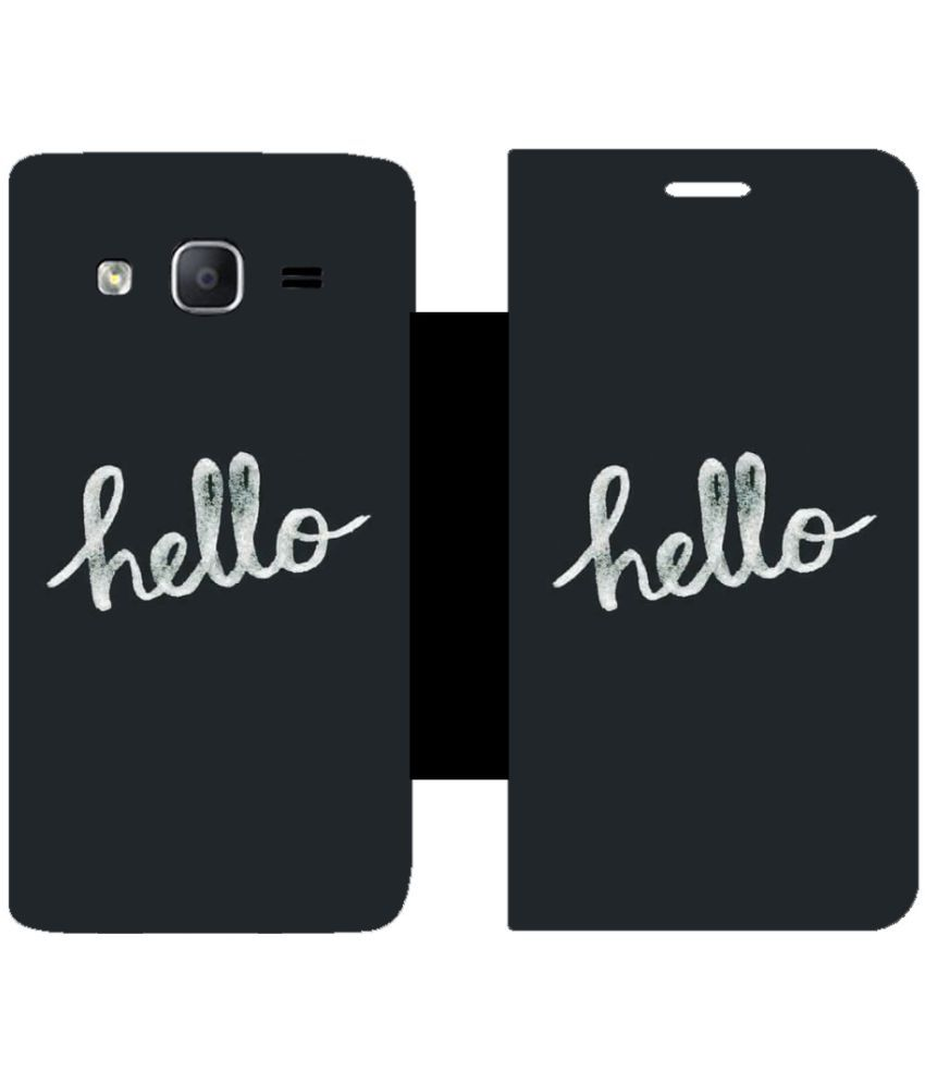 Samsung Galaxy On5 Pro Flip Cover by Skintice - Black