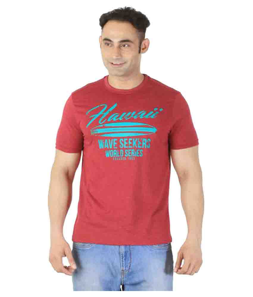 Ishwa Red Round T-Shirt