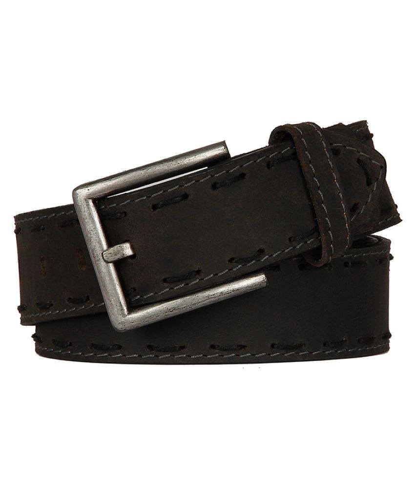 YL Black Leather Casual Belts
