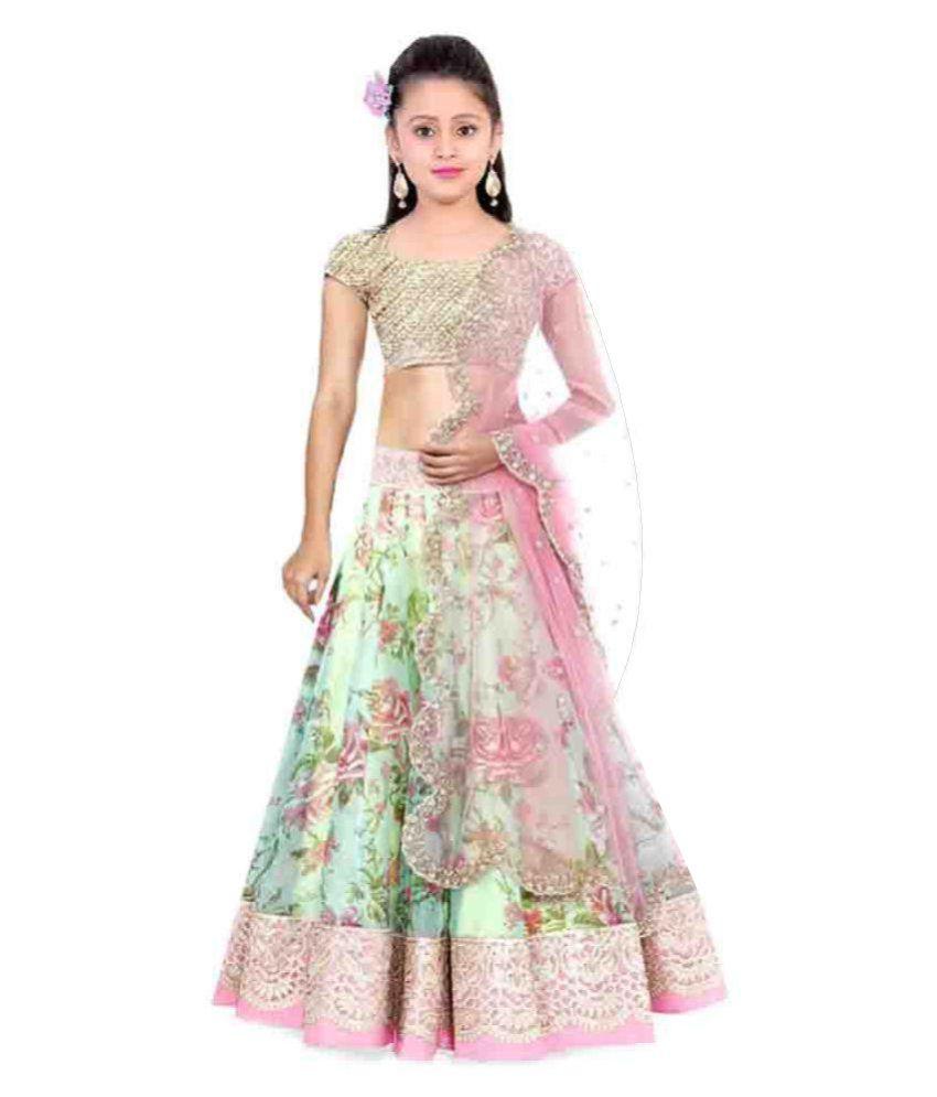 403cc910da5 MF Retail Multi Net Semi Stitched Lehenga Choli Dress Materials - Buy MF  Retail Multi Net Semi Stitched Lehenga Choli Dress Materials Online at Low  Price - ...