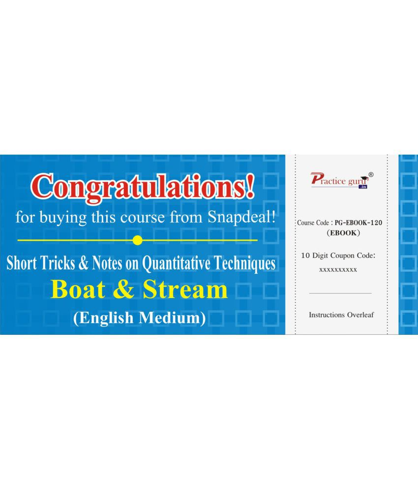 Short Tricks and Notes on Quantitative Techniques - Boat & Stream License/Redemption Code - Online