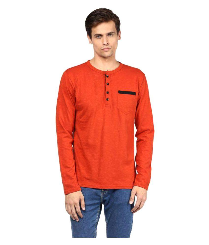 Yuvi Orange Henley T-Shirt