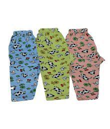 Kids Couture Multicolour Cotton Blend Pyjamas - Pack of 3