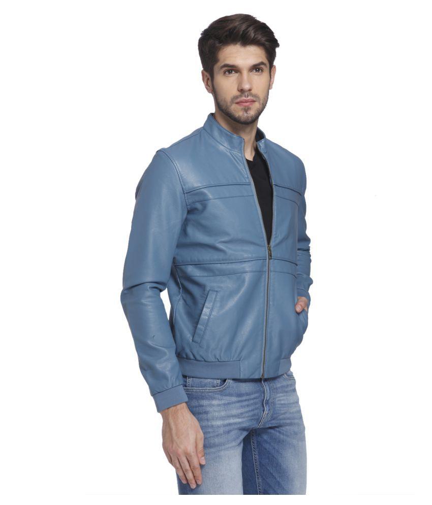 Leather jacket jack and jones - Jack Jones Blue Leather Jacket Jack Jones Blue Leather Jacket
