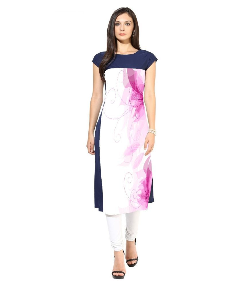 Kuber Enterprise Multicoloured Crepe A-line Kurti