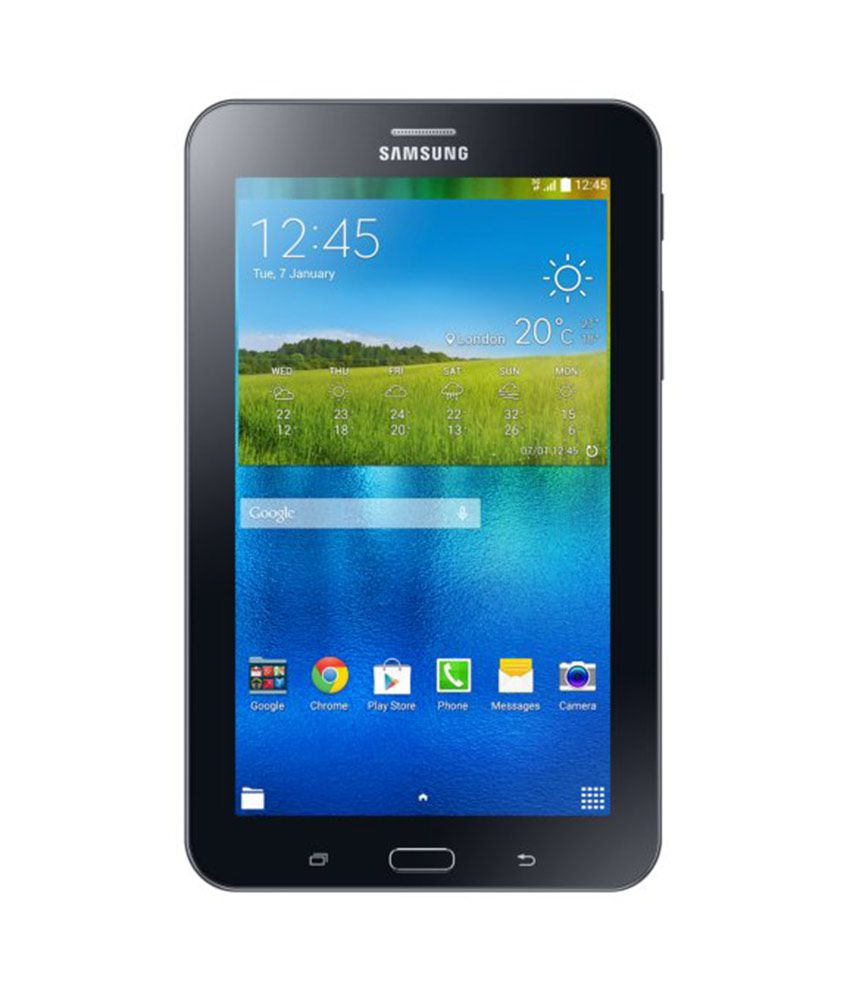 Samsung Galaxy Tab 3 V T116 Single Sim Tablet 8 GB 7 inch with Wi-Fi+3G(Ebony Black) Galaxy Tab 3 V T116 Single Sim Tablet
