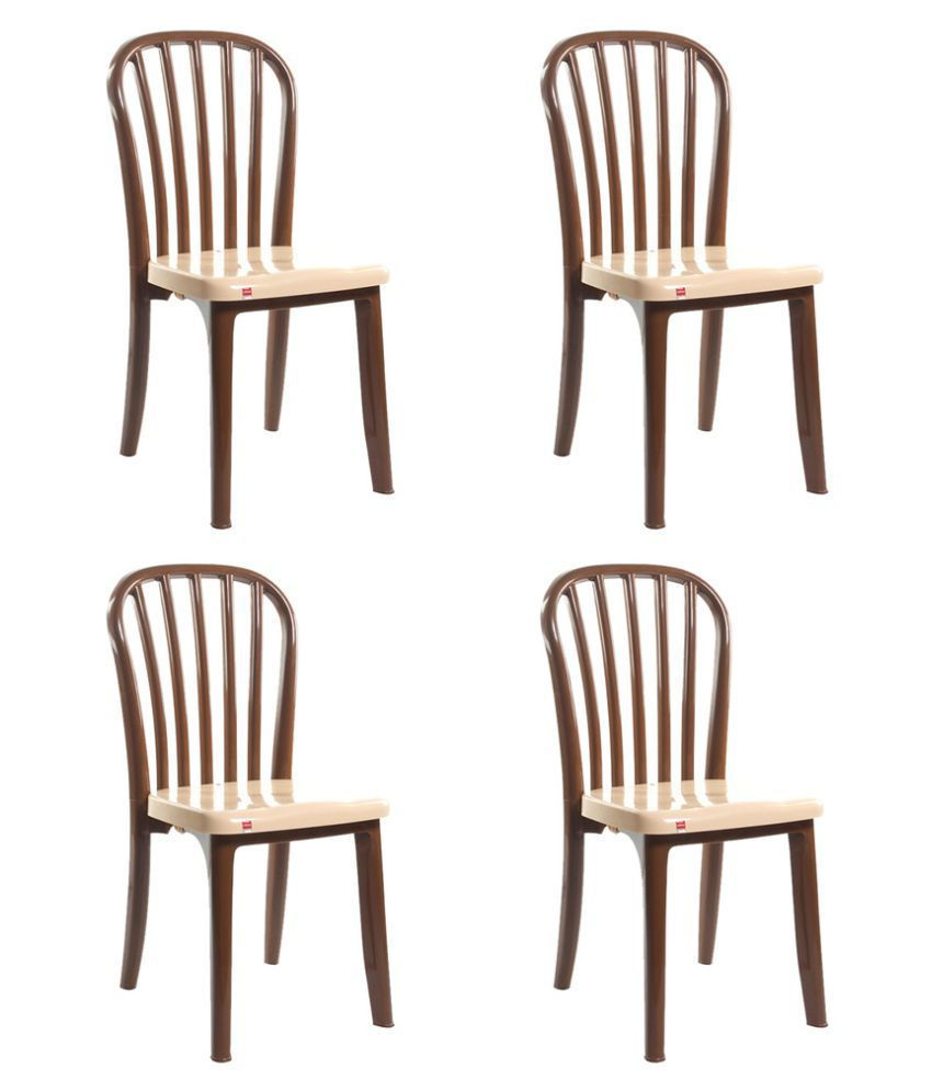 cello decent dining table chair in brown colour set of 4 buy rh snapdeal com