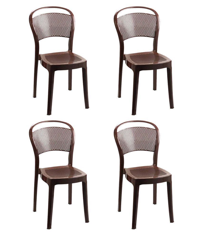 Cello Miracle Dining Chair Set Of 4 In Brown Buy Cello