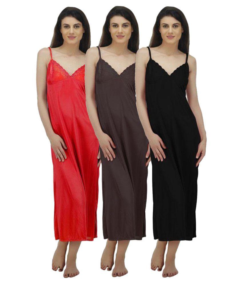 Arlopa Satin Nighty & Night Gowns