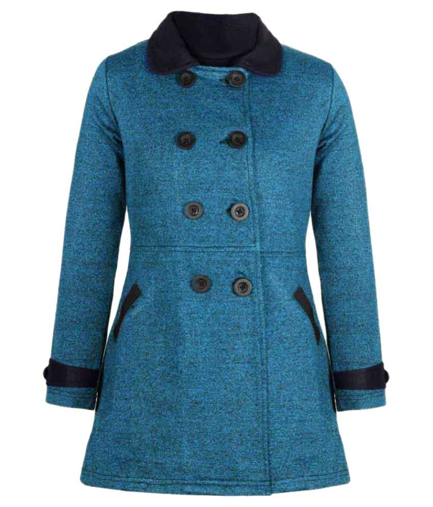 Naughty Ninos Blue Cotton Blend Coat
