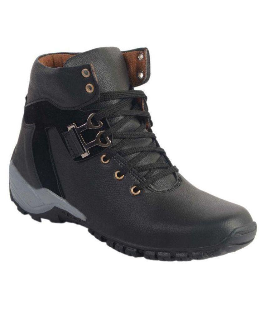 Aadi Black Casual Boot