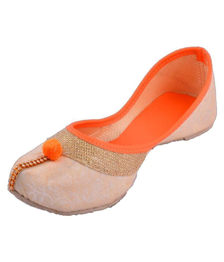 PM Traders Multi Color Flat Ethnic Footwear