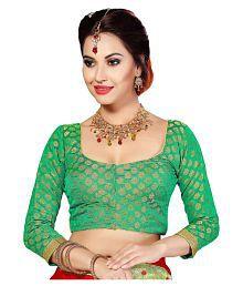 Studio Shringaar Green Round Shape With Dori Blouse