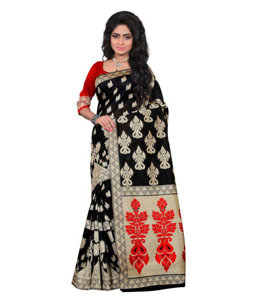 Ladies Flavour Black Banarasi Silk Saree