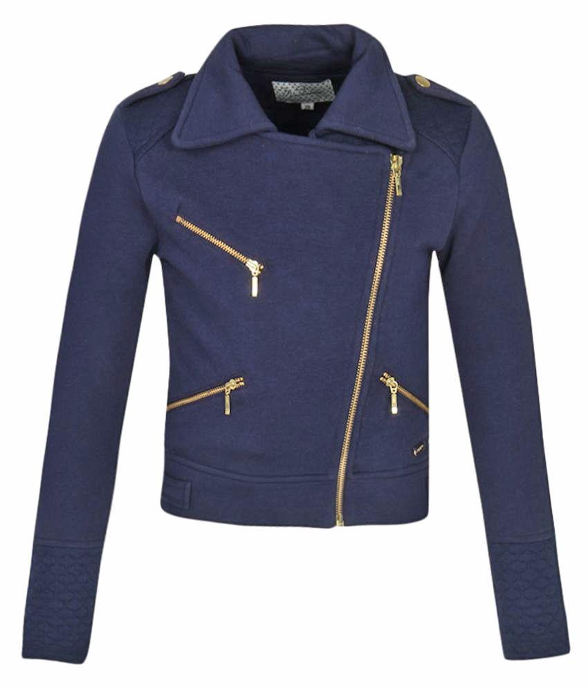 Madame Navy Cotton Blend Sweatshirt