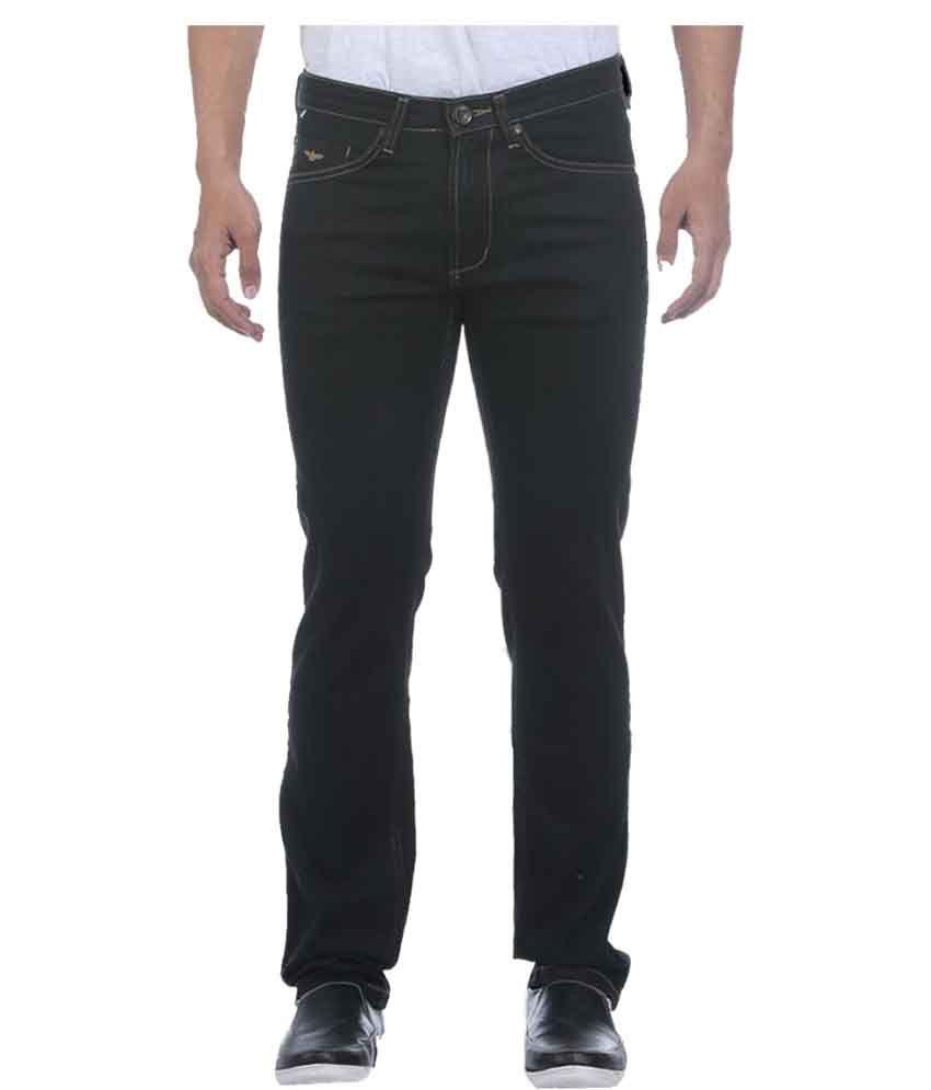 Park Avenue Black Regular Fit Jeans