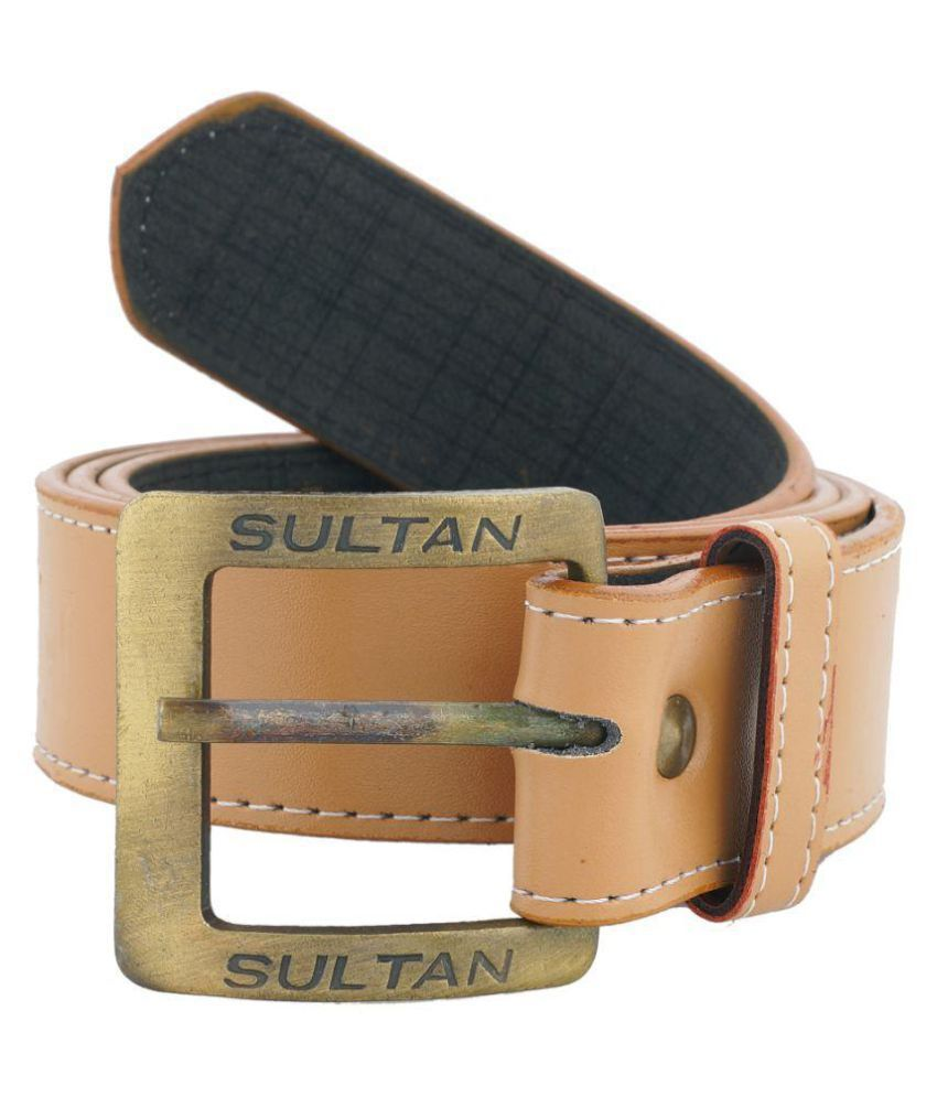 Sipro Brown PU Casual Belts