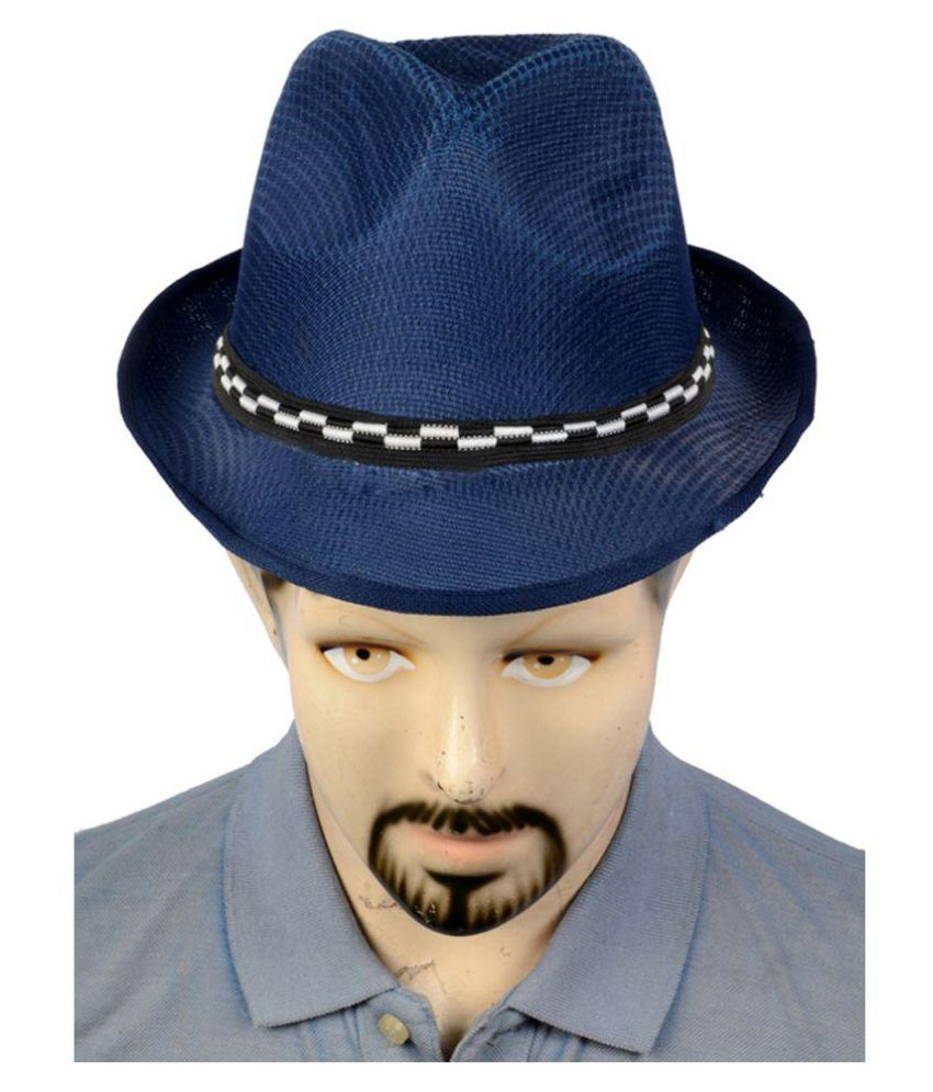 d12fba13b95 Urban Style Emporium Blue Embroidered Polyester Caps - Buy Online   Rs.