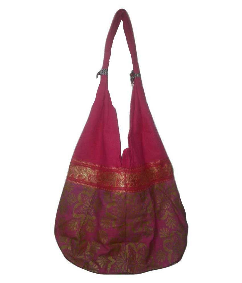 Idbc Pink Canvas Shoulder Bag