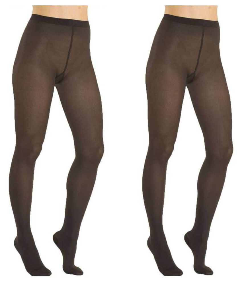 Sizzlacious Black Full length Stockings - Pack of 2