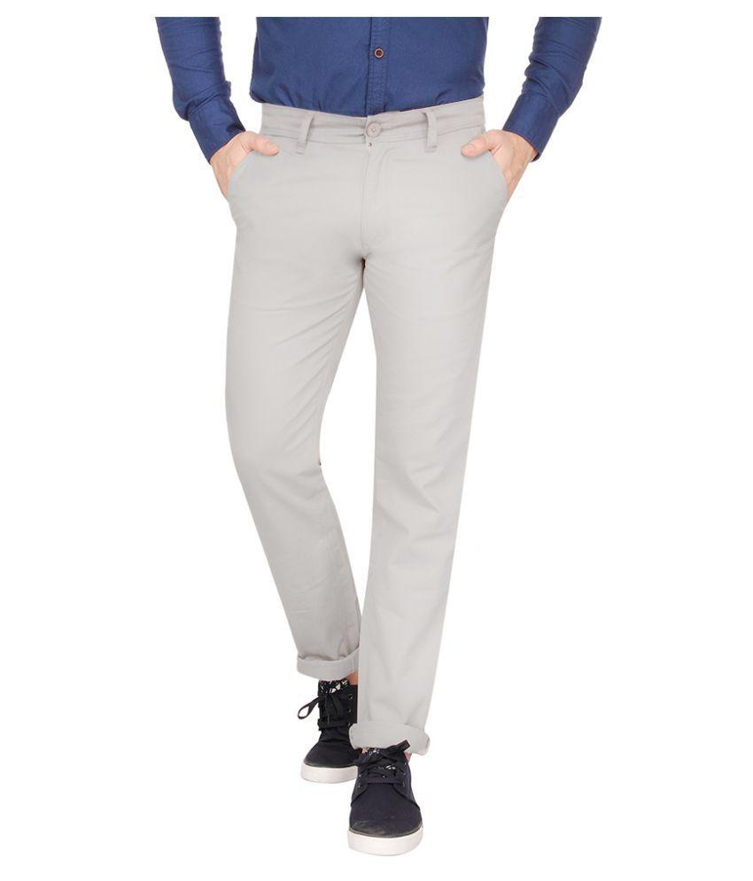 Pepe Jeans Grey Slim Flat Chinos