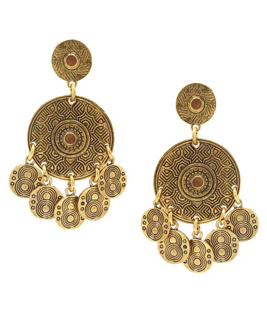 Bellofox Golden Alloy Earrings
