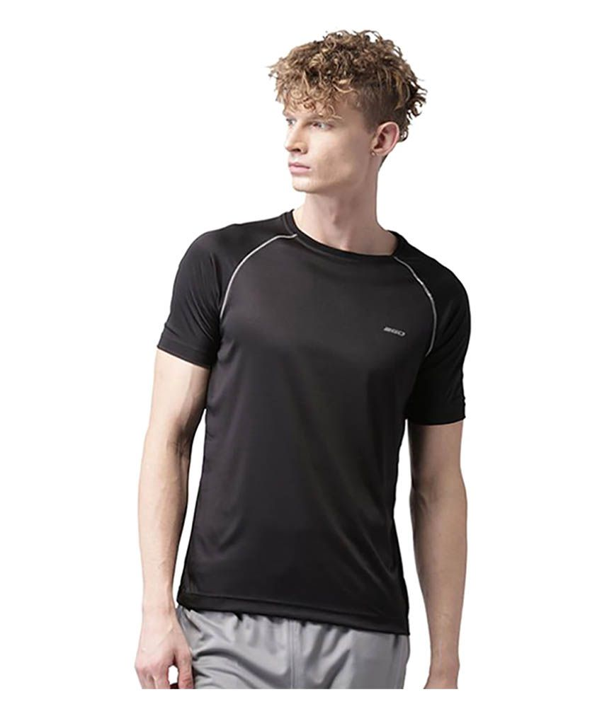 2GO Black Polyester T Shirt