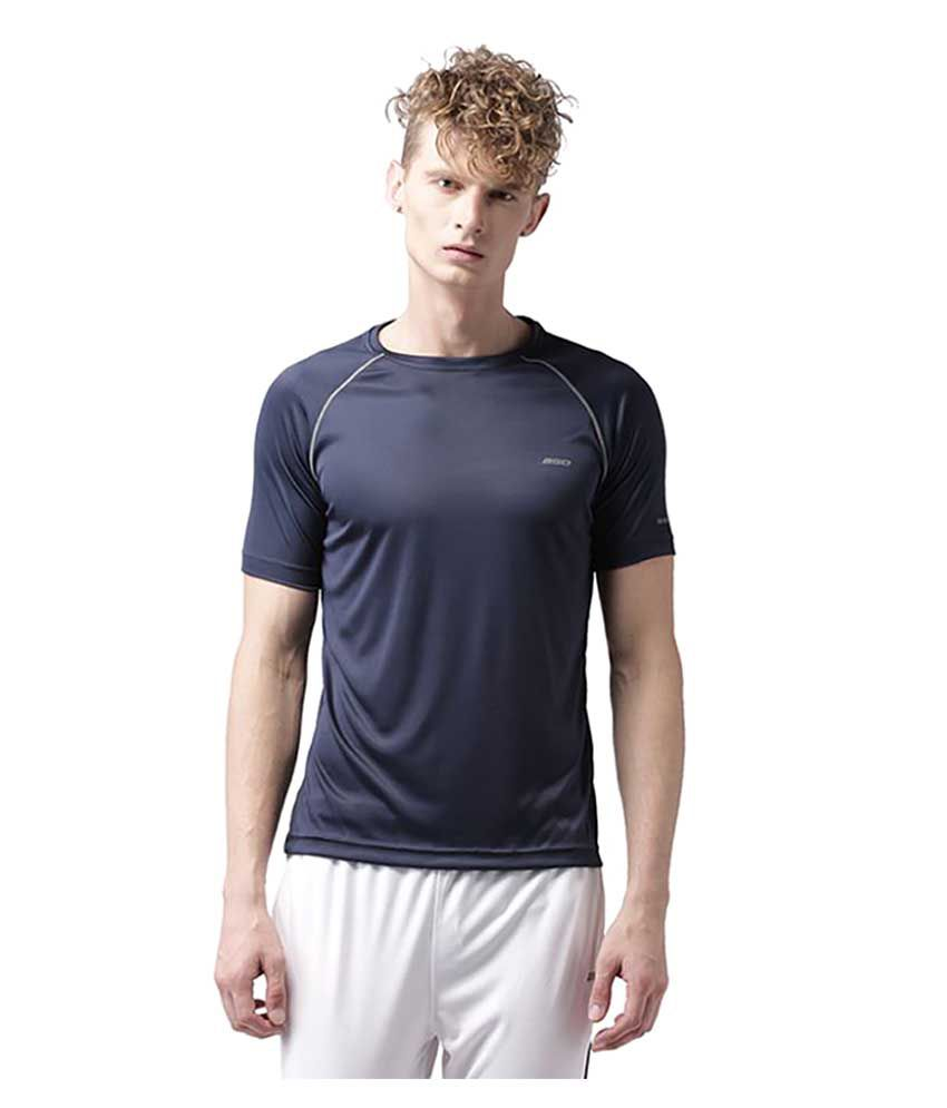 2GO Navy Polyester T Shirt