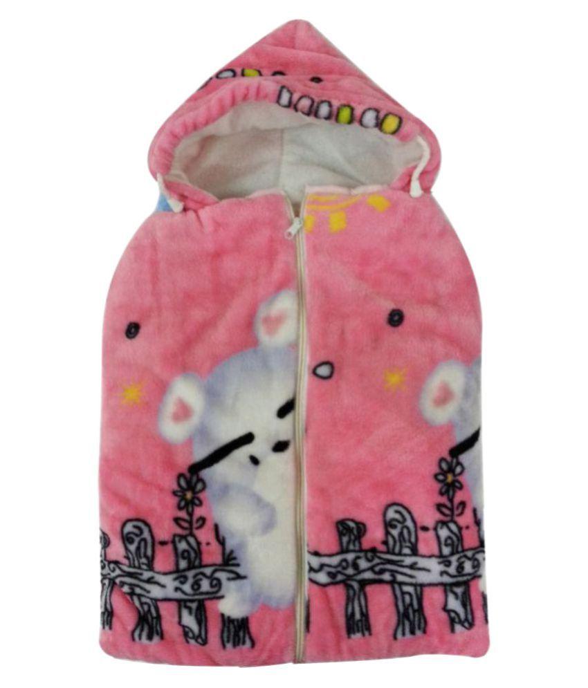 Aaaao Baby Pink Cotton Sleeping Bags ( 65 cm × 36 cm)