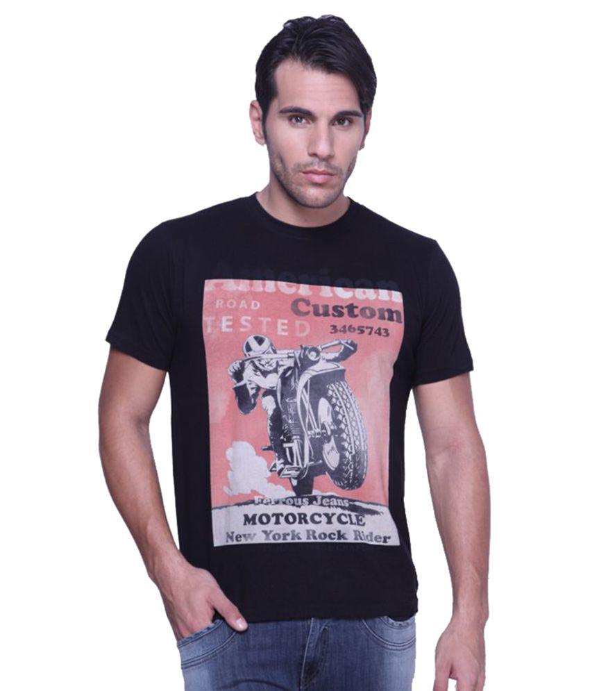 Ferrous Jeans Black Round T-Shirt
