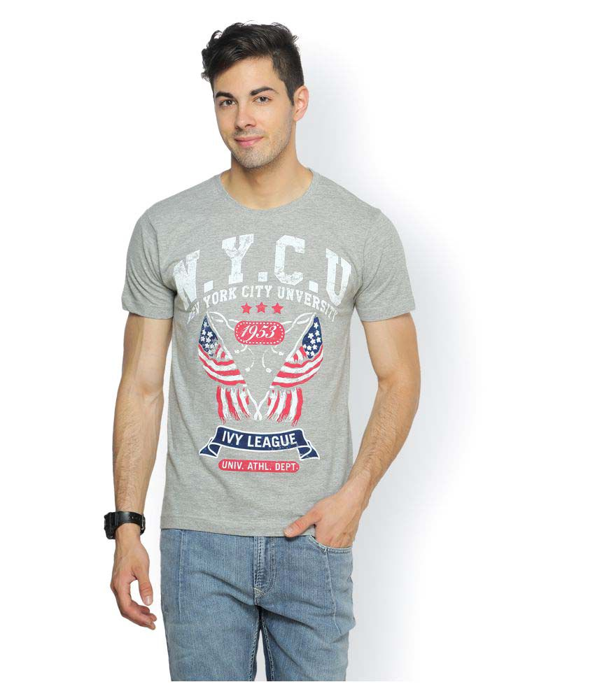 Ferrous Jeans Grey Round T-Shirt