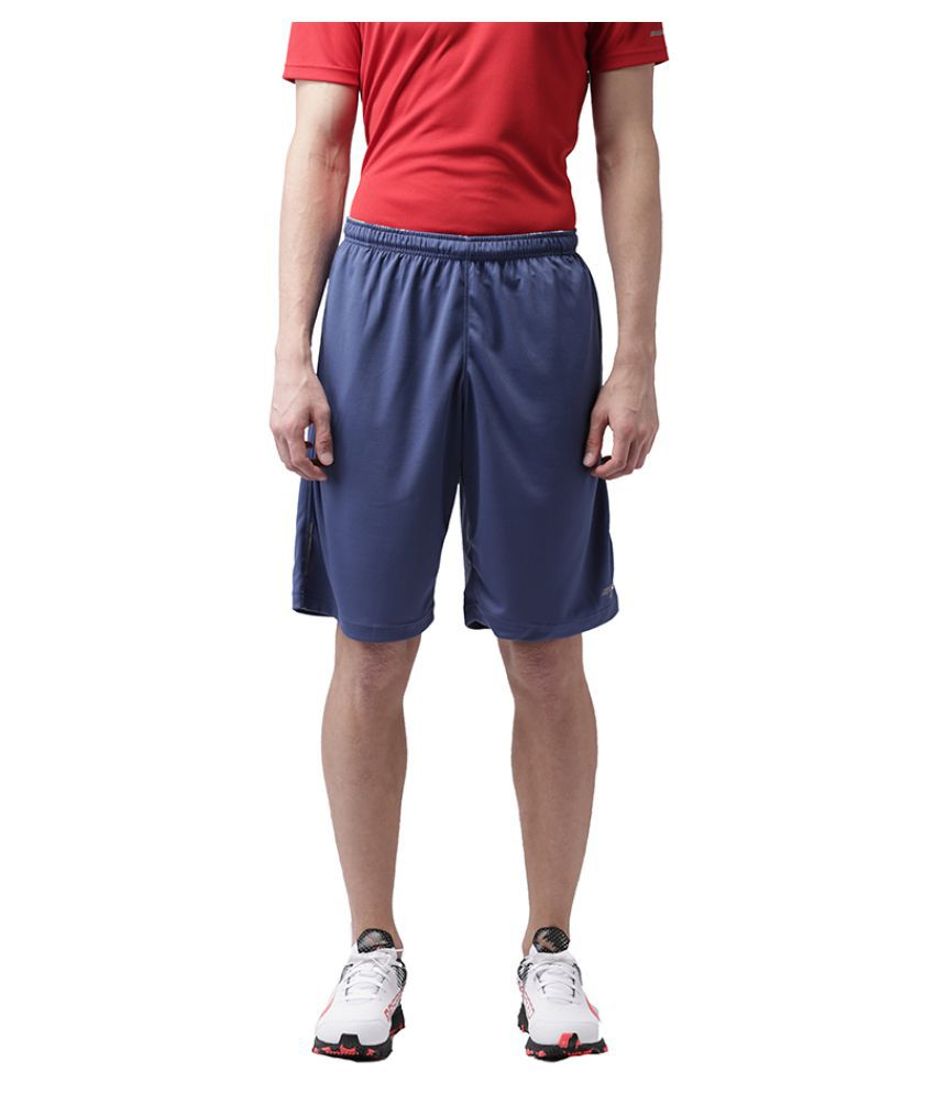 2GO Blue Polyester Shorts