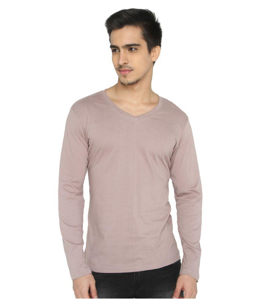 LUCfashion Peach V-Neck T-Shirt