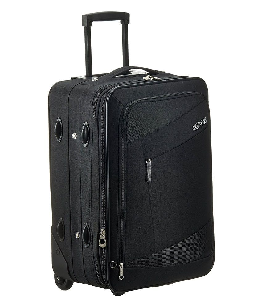american tourister small below 60 cm 4 wheel soft black