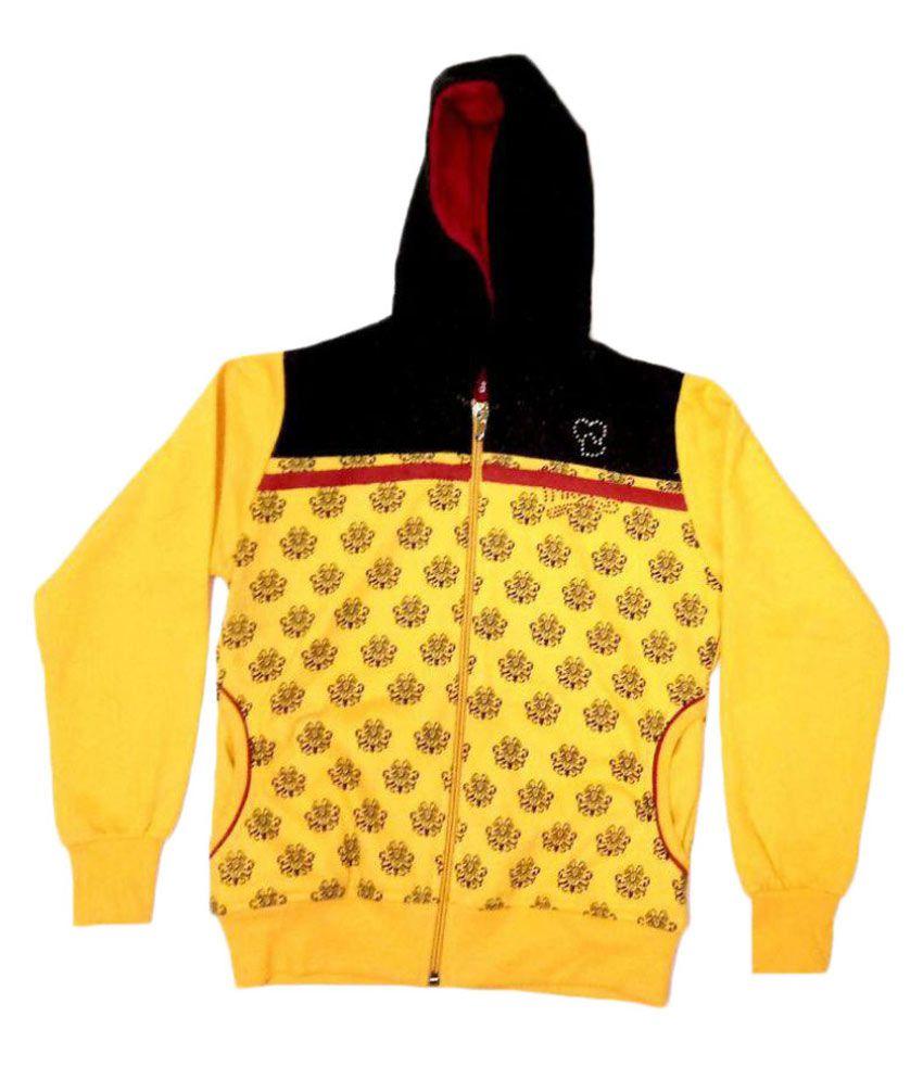 Cuddlezz Yellow Front Open Sweatshirt