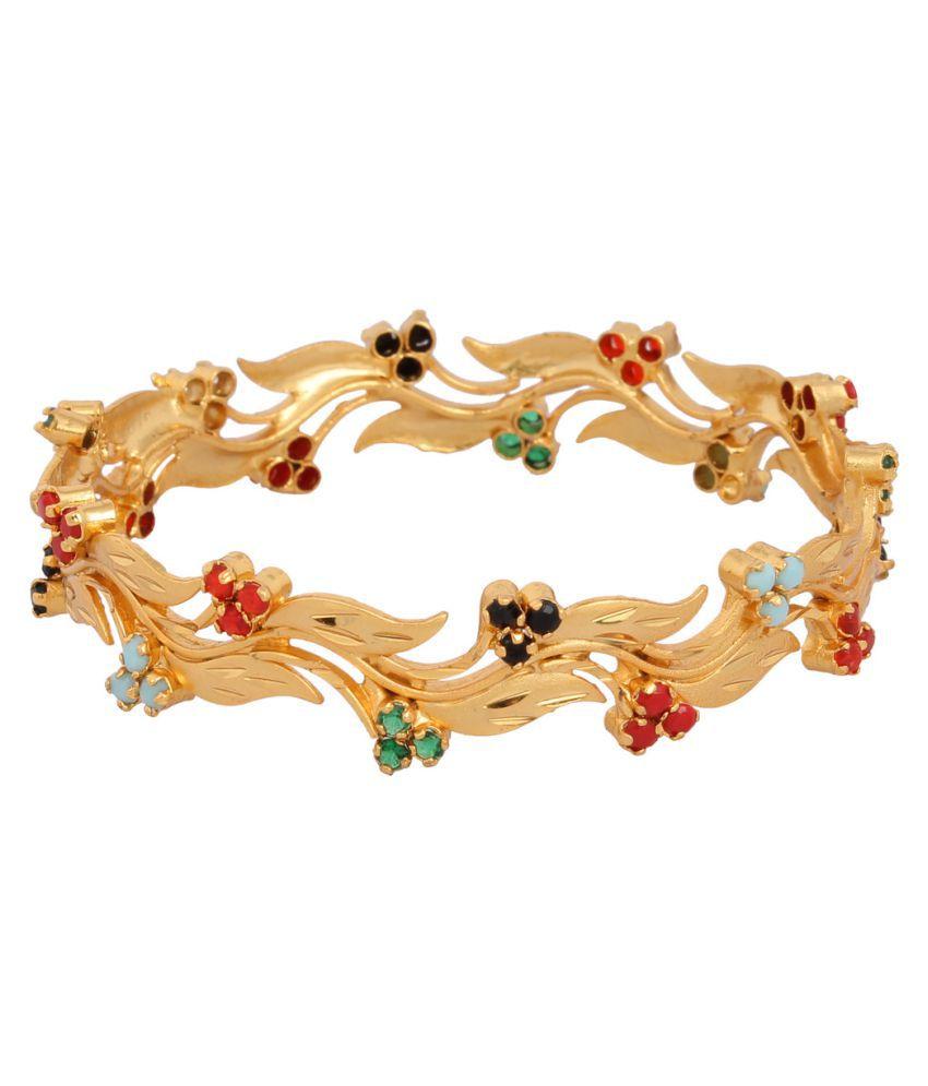 Pooja Golden Brass Bangles Set of 2