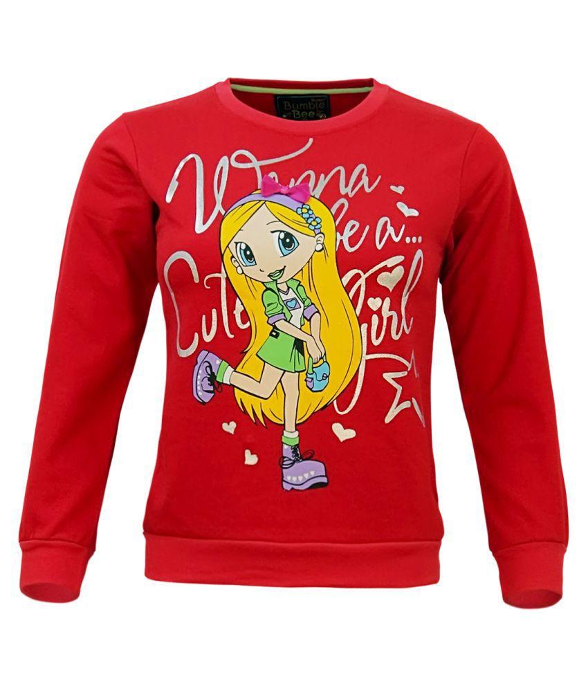 Kothari Red Crew Neck Sweatshirt